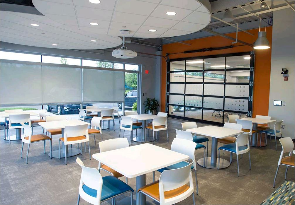 commercial furniture in a bistro setting